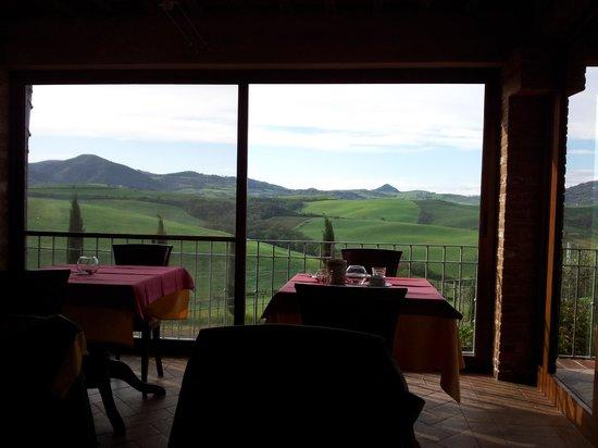 Agrihotel Il Palagetto: Panorama dalla sala da pranzo
