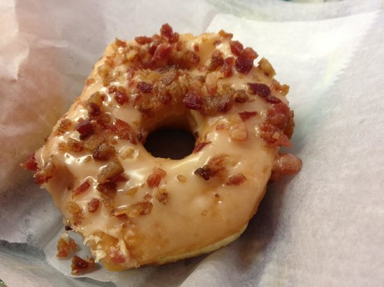 Gibson's Donuts: Maple glazed with bacon sprinkles