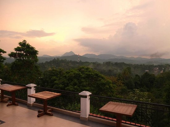 Elegant Hotel: View from rear balcony
