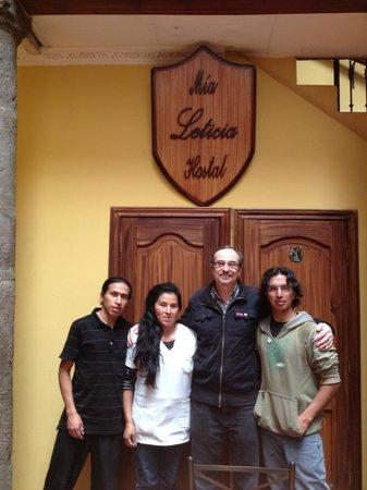 Hostal Mia Leticia: The fabulous staff at Mia Leticia (with JT)
