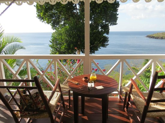 Ti Kaye Resort & Spa: View of the Caribbean Sea from our deck