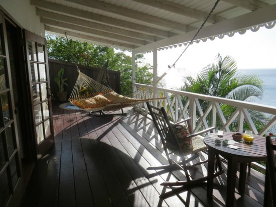 Ti Kaye Resort & Spa: Cottage porch