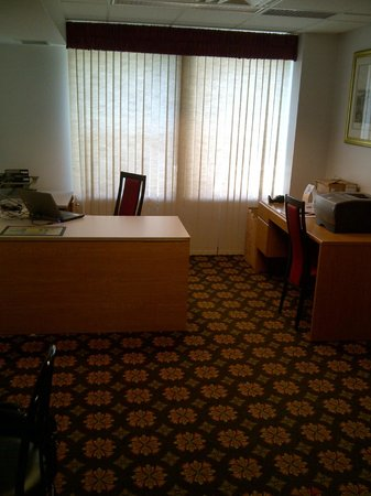 Clarion Hotel Palmer Inn: Business Center not very business like