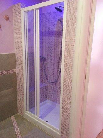 Ridolfi Guest House : bagno camera lilla