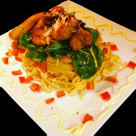 Gimaro Seafood & Steakhouse: Baked Shrimp and Crab Pasta