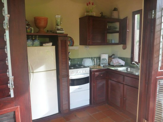 Villa Pomme d'Amour: the kitchen in upper apartment