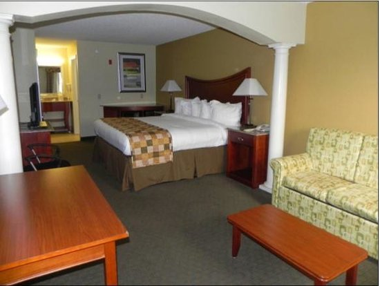 Atkinson Inn & Suites: Master Suite with Sofa