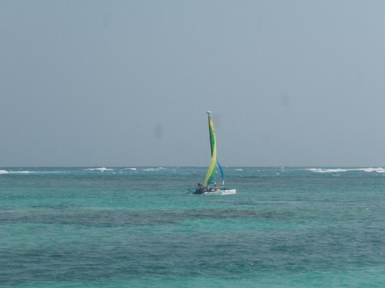 Tranquility Bay Resort : Winds kept us from sailing most days...but it was perfect today!
