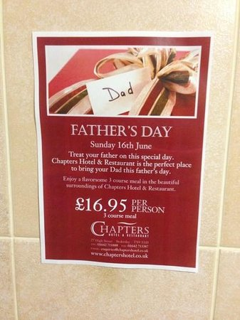 Chapters Hotel and Restaurant: special occasions at Chapters...