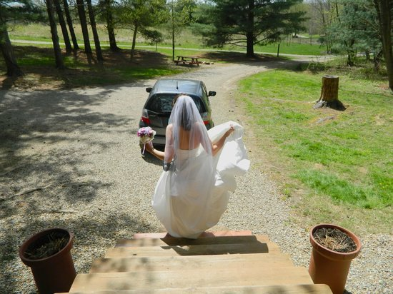 At Boulders Edge : Off to get married in Ash Cave!