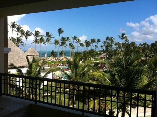 Now Larimar Punta Cana: View from our room Premier Club Pool/ Ocean view