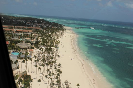 Now Larimar Punta Cana: Beach from the Helicopter