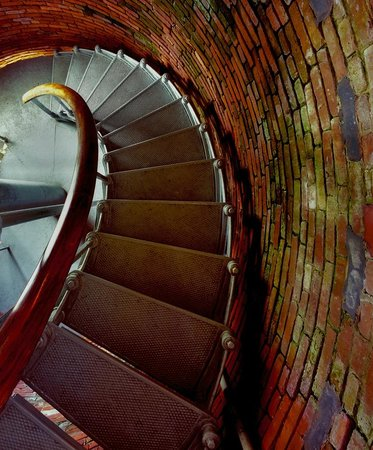 """Seaworthy Gallery: """"Gay Head Lighthouse Stairs"""" by Jeff Serusa"""