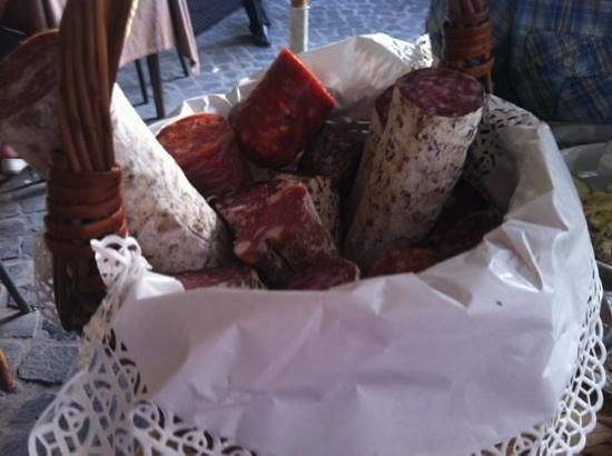 "Gli Angeletti: Literally a ""selection of salami!"""
