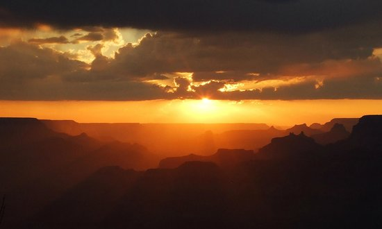 Grand Canyon Hikes: Sunset over the Canyon