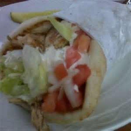 Corner Grille: pork souvlaki sandwich