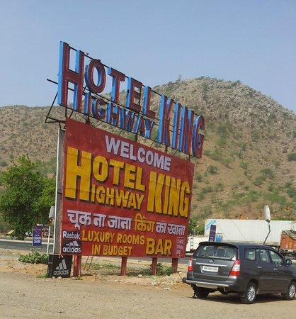 Shahpura, India: Sign board