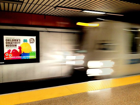 Children's Creativity Museum : Take BART to visit! CCM is walking distance from Powell Street Station