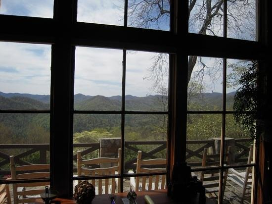 Snowbird Mountain Lodge: Stunning view from the lounge