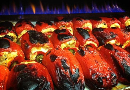 Luca's Ristorante: roasted Italian stuffed peppers