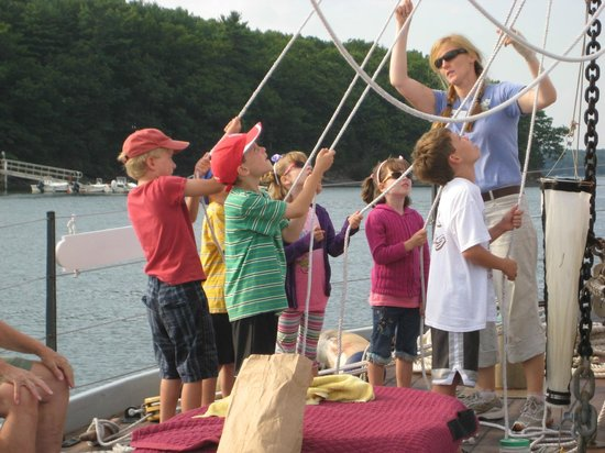 Kids Help Crew Member Heather To Raise The Sail Kids Sail Free - Kids sail free