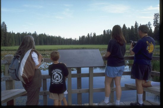 Ponderosa State Park: Interpretative sign area overlooking the Lily Marsh