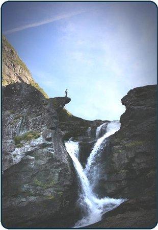 Roykjafossen Waterfall
