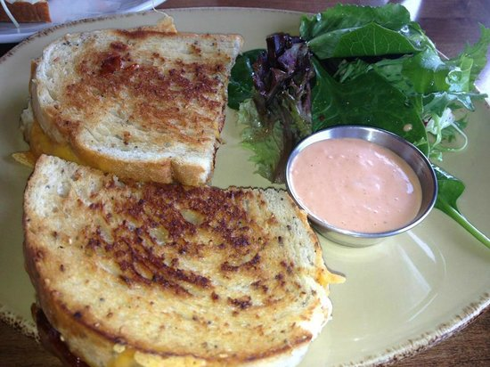 Java Shack: Grilled cheese with prosciutto & salad