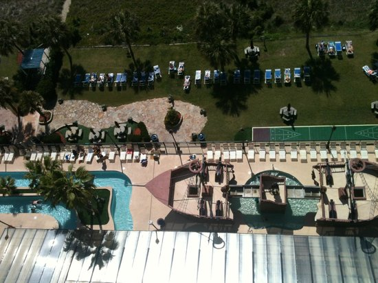 The Breakers Resort: View looking directly down from 1676