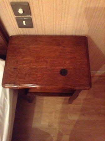 Hotel de l'Esplanade : Furniture stain