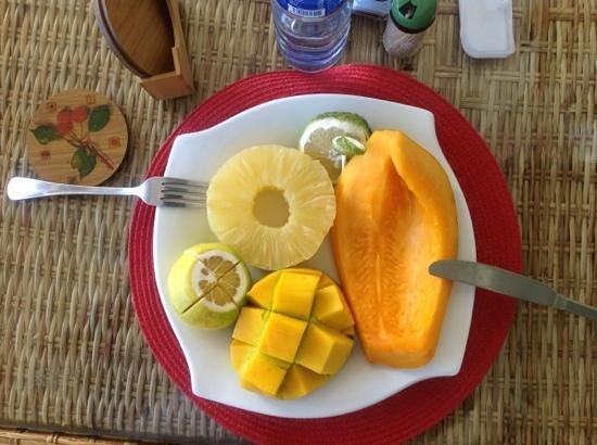 Hotel Le Chandelier : the fresh fruit plate