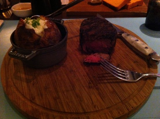 Riva : $80 piece of meat, which was very good but too big for me