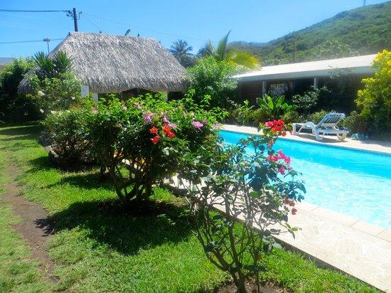 Piscine et fare pote picture of pension de la plage for Choupi et doudou a la piscine
