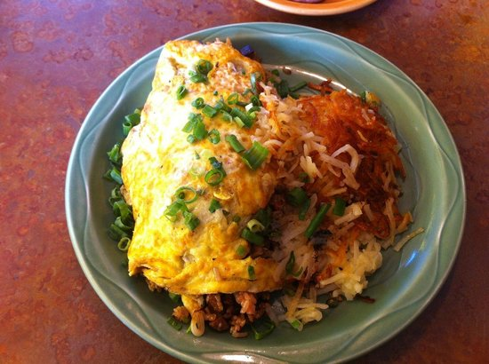 Pork Fried Rice Omelet - Picture of Kountry Kitchen, Kapaa ...