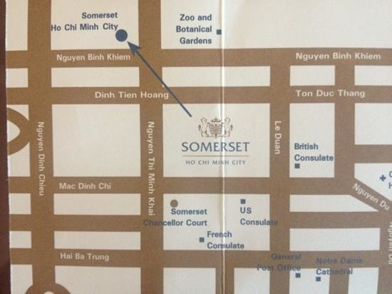 Somerset Ho Chi Minh City: Map of the hotel.