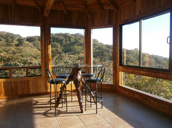 Hidden Canopy Treehouses Boutique Hotel: Rivendell treehouse....large living area with beautiful views of the Nicoya Penninsula.