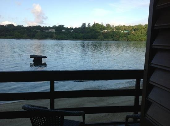 Fatumaru Lodge : looking out from balcony