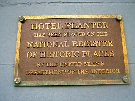 Hotel Planter: Historic!