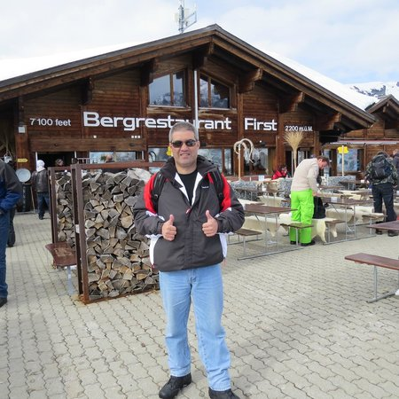 Grindelwald, Suiza: BERGRESTAURANT FIRST