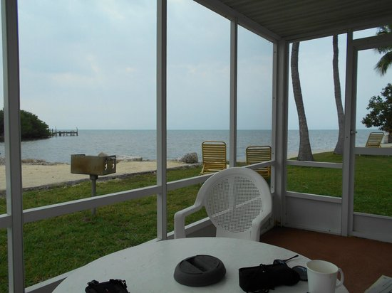 Ragged Edge Resort & Marina: View from the screened in Porch for Room 2D