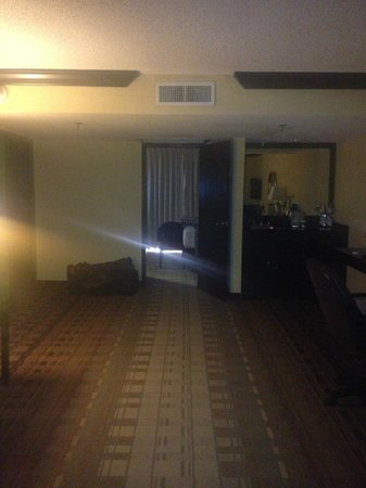 Crowne Plaza Suites Houston - Near Sugar Land : View into bedroom