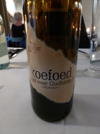 Restaurant Koefoed : A bottle of their own brewed beer - excellent, best beer we had in Denmark!