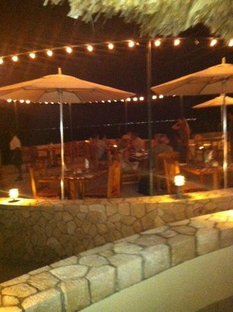 The SPA Retreat Boutique Hotel: Nighttime dining.