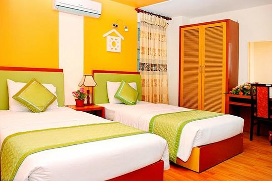 Van Mieu 1 Hotel: Deluxe twin room