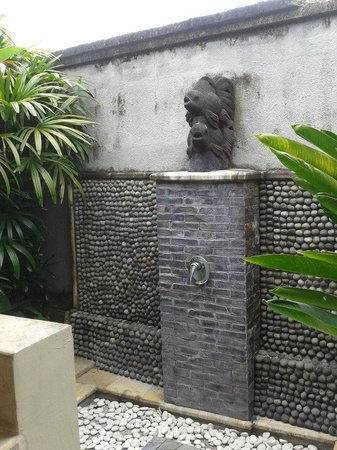 Bali Nyuh Gading Villa: Outdoor shower!