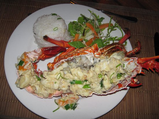 Bokissa Private Island Resort: one of the lobster dishes
