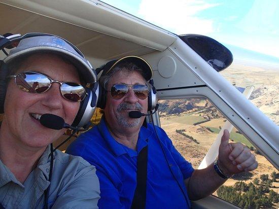 U-Fly Wanaka: Ruth keeping an eye on my flying