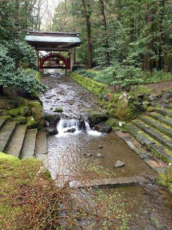 Yahiko Shrine: 鳥居をくぐってすぐ左側