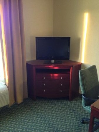 Hampton Inn & Suites El Paso West: small tv for the size of the room (204)