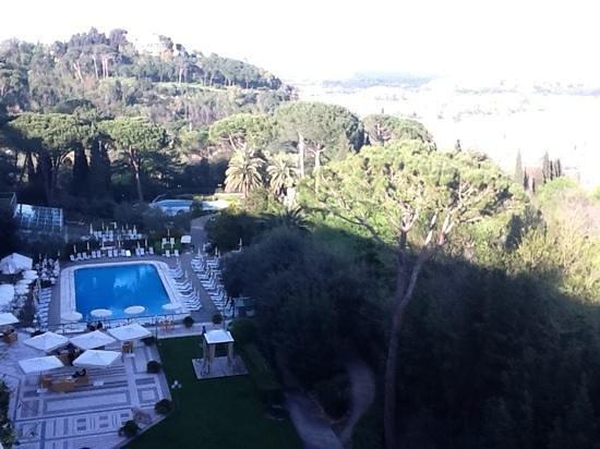 Vista delle due piscine dalla mia stanza picture of rome cavalieri